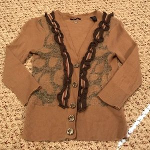BKE boutique button down cardigan size medium